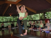 Vidya Heisel Teaching Yoga