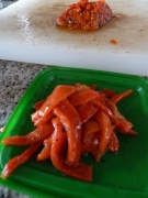 roasted red pepper strips for paella