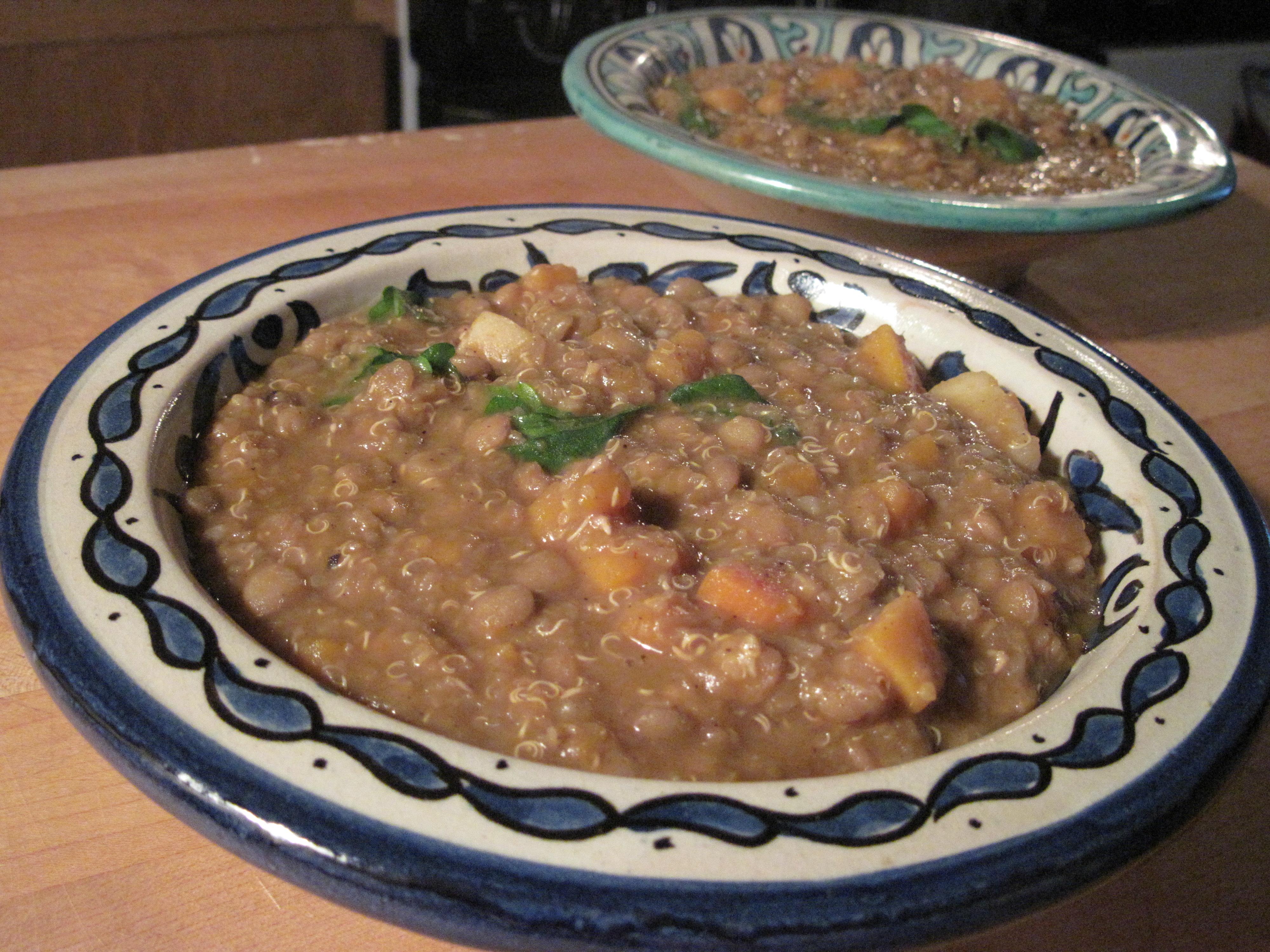 Spanish Lentils with Quinoa