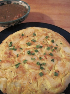 Spanish Tortilla Made with Steamed Potatoes